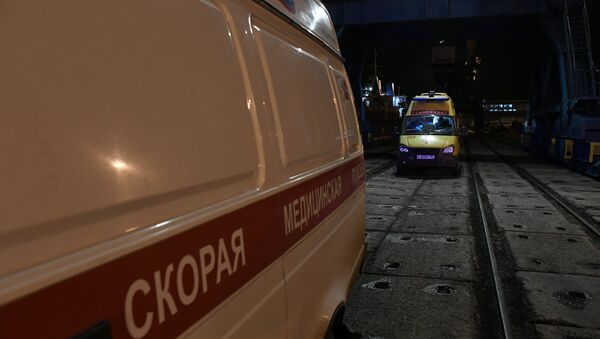 Машины скорой помощи в порту Керчи