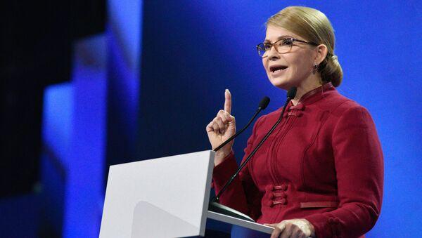 Лидер партии Батькивщина, кандидат в президенты Украины Юлия Тимошенко