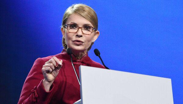 Кандидат в президенты Украины, лидер партии Батькивщина Юлия Тимошенко. Архивное фото