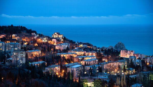 Город Гурзуф в Крыму