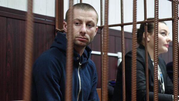 Денис Чуприков, подозреваемый в краже картины художника Архипа Куинджи из Третьяковской галереи, в Таганском районном суде Москвы. 29 января 2019