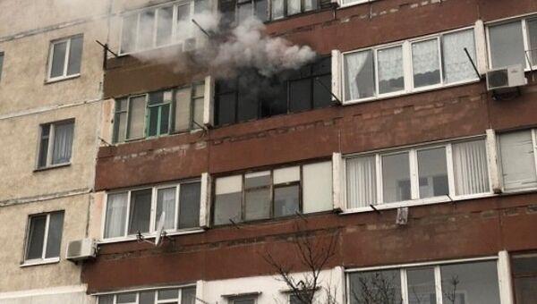 Пожар в жилом доме в Щелкино