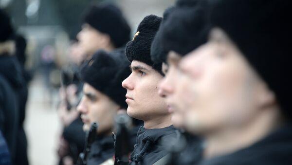 В Севастополе новобранцы отдельной бригады разведки Черноморского флота приняли военную присягу