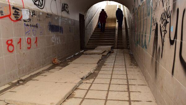 Подземный пешеходный переход на ул. Ракетная в Симферополе