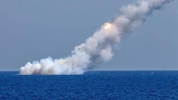 Запуск ракет Калибр