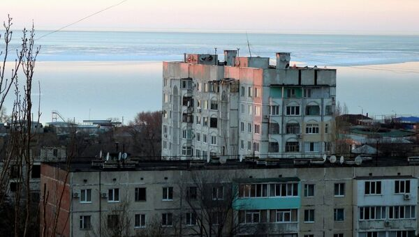 Вид на дома города Щелкино