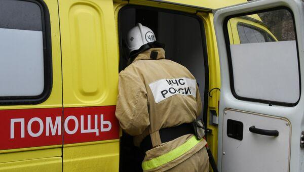 ДТП с участием двух автомобилей возле села Перевальное Симферопольского района авария