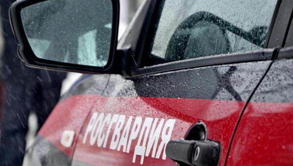 Автомобиль Росгвардии в Крыму