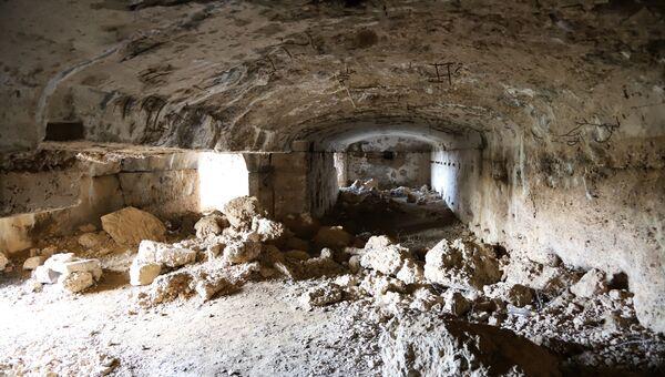 Часть казематов форта Южная Балаклава в Севастополе