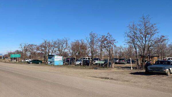 Украинский пункт пропуска Каланчак на границе с Крымом