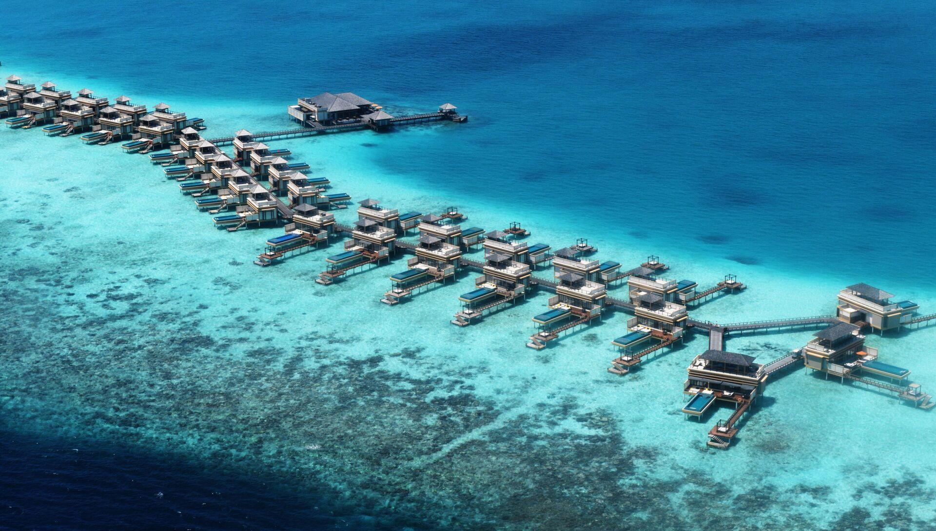 Виллы для туристов на рифе Мальдивского архипелага - РИА Новости, 1920, 31.05.2021
