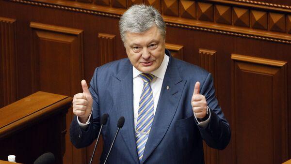 Президент Украины Петр Порошенко во время заседания Верховной рады