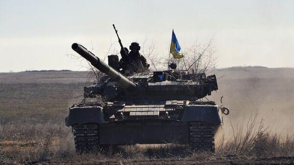 Тактические учения украинских десантников