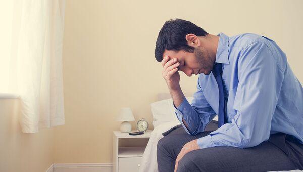 Мужчина в депрессии