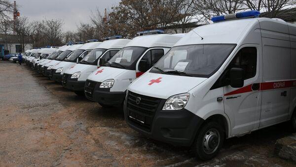 В Крыму передали 26 новых автомобилей для семи районных станций скорой помощи