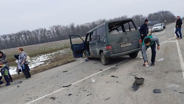 Авария с участием двух микроавтобусов в Кировском районе Крыма