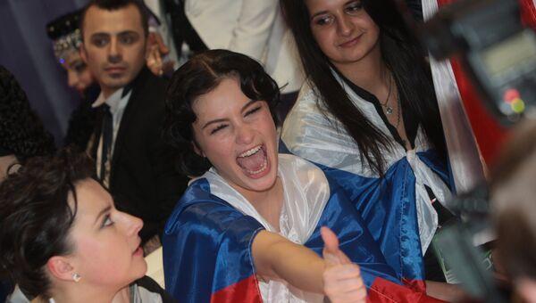 Певица Анастасия Приходько после выступления в финале конкурса Евровидение-2009. Архивное фото