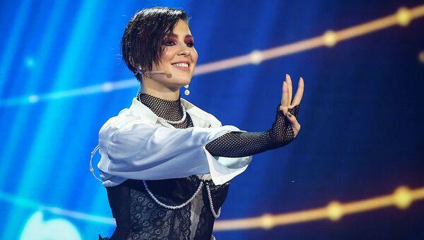 Певица Анна Корсун (MARUV) во время национального финального отбора на конкурс Евровидение в Киеве
