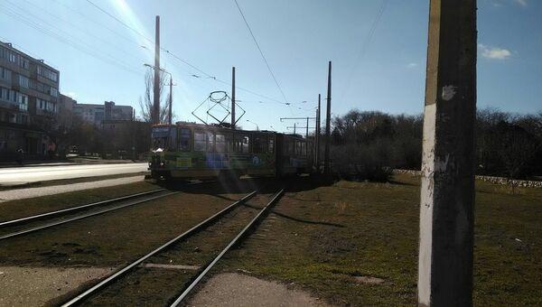 В Евпатории трамвай сошел с рельсов