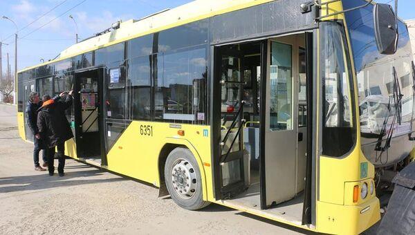 Троллейбусы, доставленные в Керчь из резерва ГУП РК Крымтроллейбус