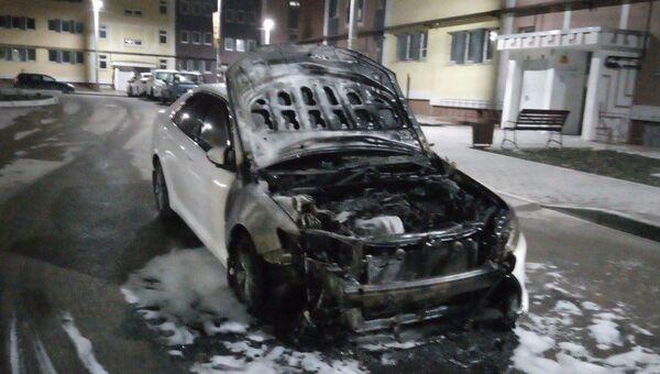 В Севастополе сгорела Toyota Camry