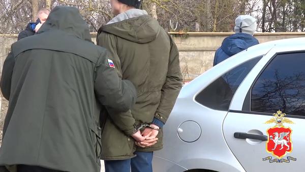 Задержание крымчан во время закладки соли в тайник в Саках