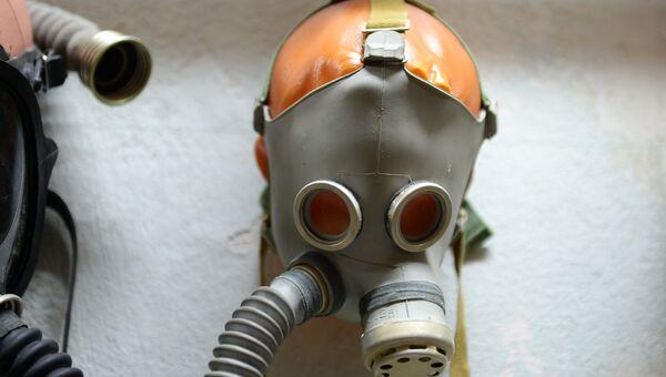 Детский противогаз, произведенный в фашистской Германии – экспонат музея Спецобъекта №2 в Севастополе