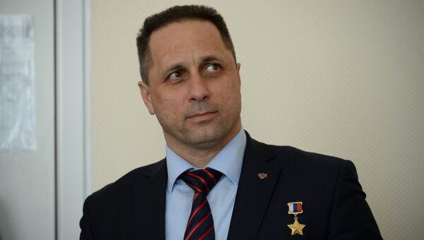 Российский космонавт Антон Шкаплеров