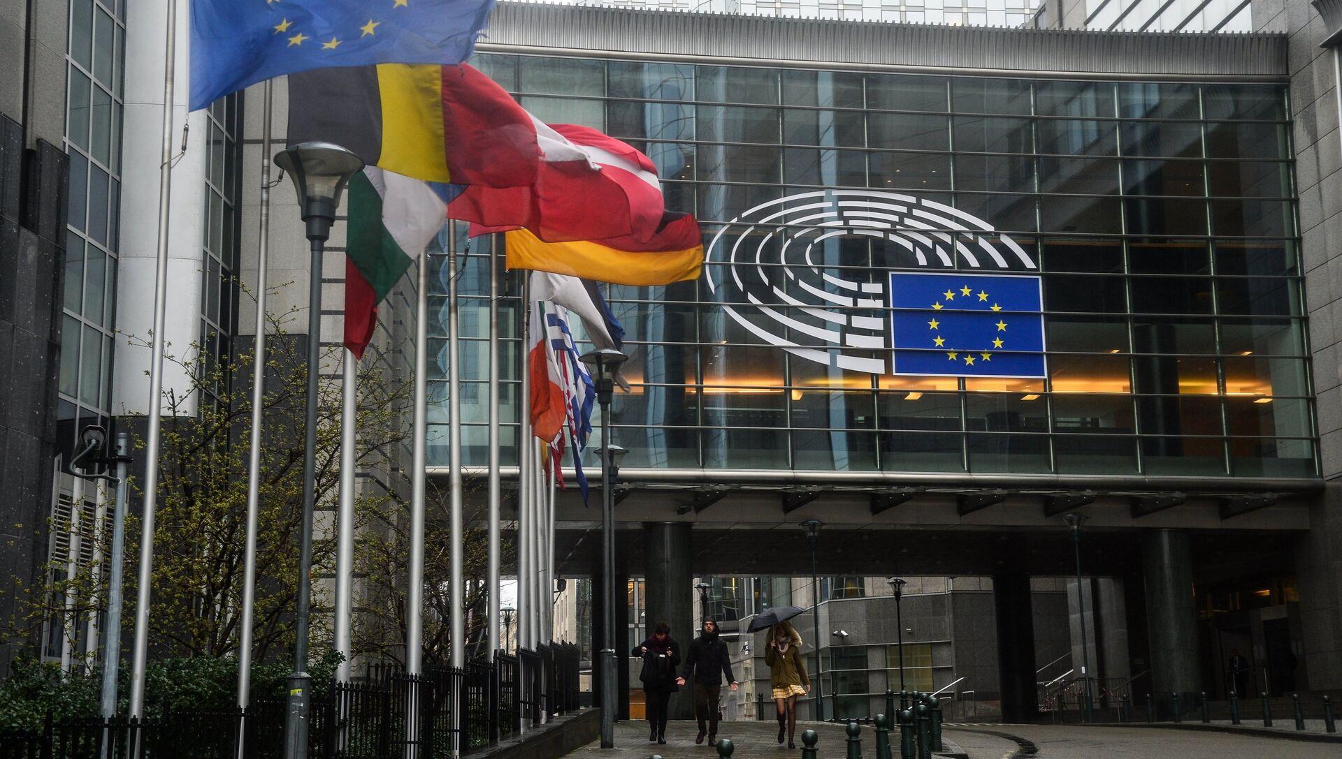 Здание Европейского парламента в Брюсселе - РИА Новости, 1920, 11.02.2021