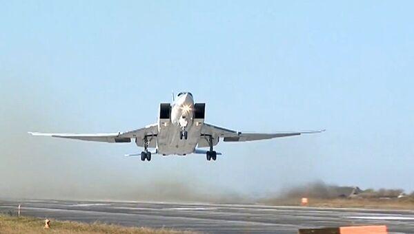 Авиаудары бомбардировщиками Ту-22М3 ВКС РФ по объектам террористов в провинции Дейр-эз-Зор