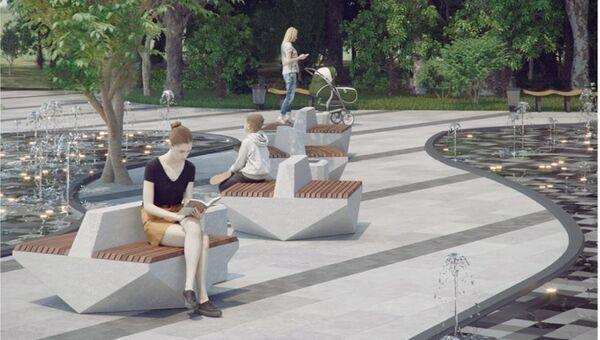 Дизайн-проект обновления сквера Ломоносова в Ялте