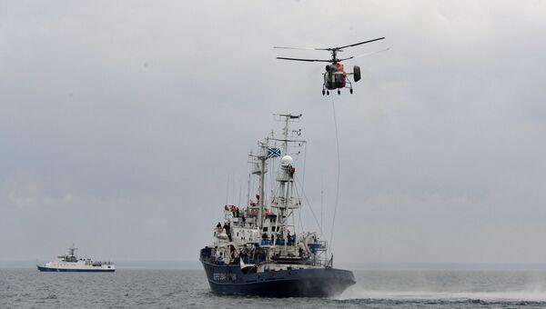 Учения крымских пограничников с авиацией ФСБ и Черноморским флотом