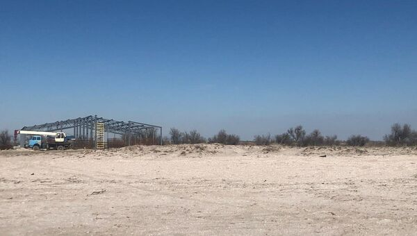 Место строительства креветочной фермы в Сакском районе