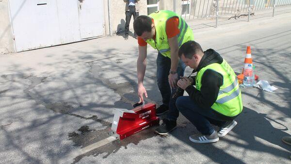 Инспекция дорог в Симферополе федеральными экспертами проекта Дорожная инспекция ОНФ/Карта убитых дорог