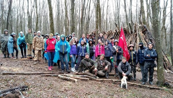 В Крыму воссоздали шалаш 18-го партизанского отряда