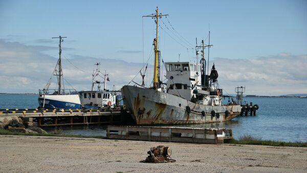 Причал рыболовецкого колхоза имени Первого мая в Керчи