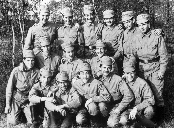 Группа капитана В. Боброва, которая проводила радиационную разведку в городе Припяти