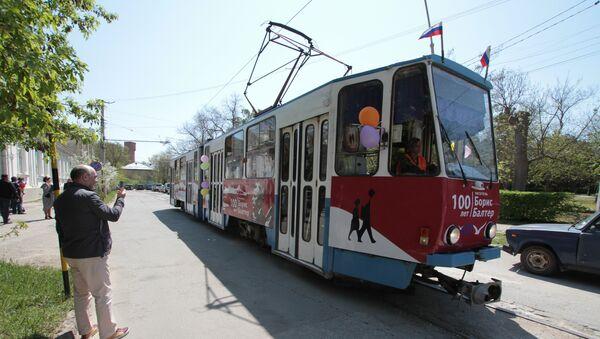Балтеровский трамвай на улицах Евпатории