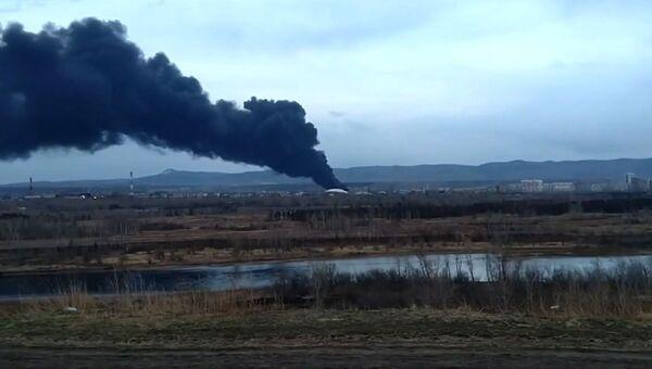 Пожар на заводе Красмаш в Красноярске: съемка очевидца Ruptly