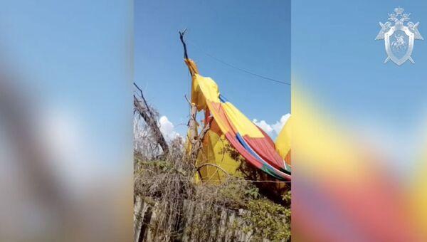 Видео с места ЧП с воздушным шаром в Феодосии