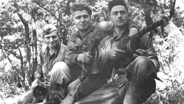Бойцы чекистско-оперативной группы в Крыму в годы Великой Отечественной войны.