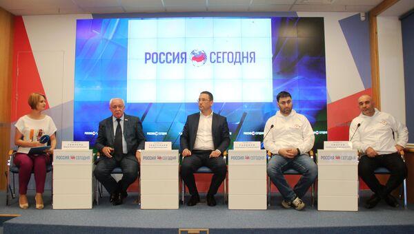 Пресс-конференция, посвященная автопробегу в честь 345-й стрелковой дивизии и 75-летия освобождения города-героя Севастополь
