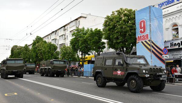 Генеральная репетиция парада Победы в Симферополе. 7 мая 2019