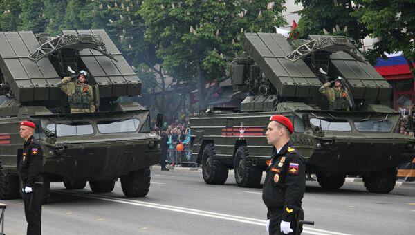 Военный парад в честь Дня Победы в Симферополе. 9 мая 2019