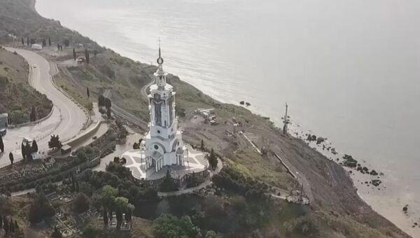 Уникальная святыня на ЮБК: вид на храм-маяк в Малореченском