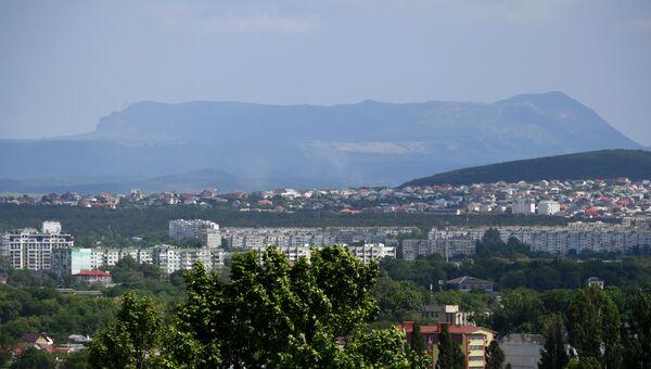 Вид на Чатыр-Даг из Симферополя