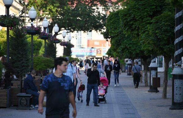 Улица Карла Маркса в центре Симферополя