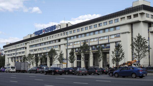 Здание МИА Россия сегодня на Зубовском бульваре в Москве.