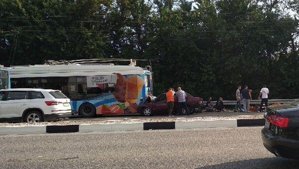 ДТП с троллейбусом в Крыму