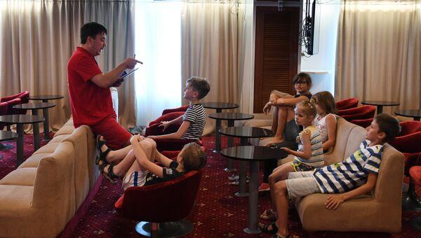 Работа с юными пассажирами круизного лайнера Князь Владимир